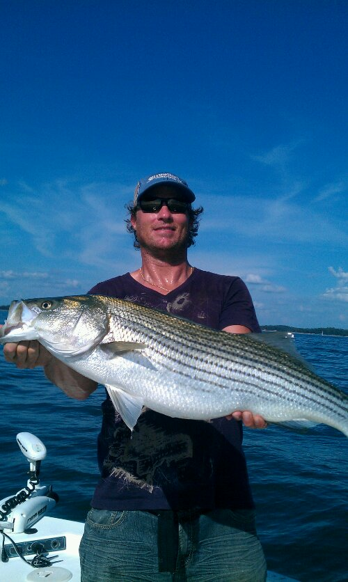 Lake lanier fishing guides striper charters lake for Lake lanier striper fishing