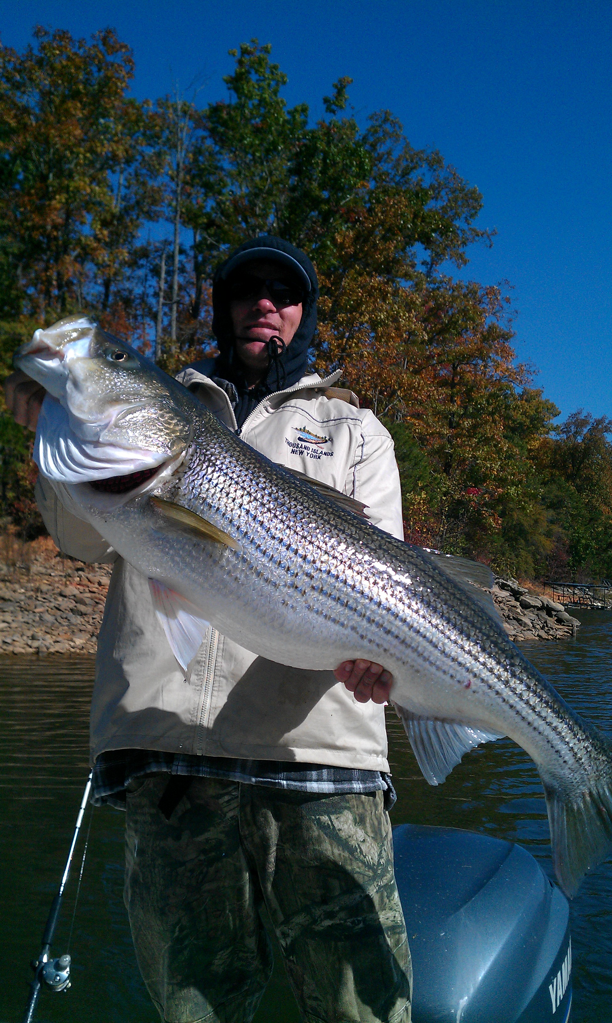 lake lanier striper fishing oct 25 2012 striper steve