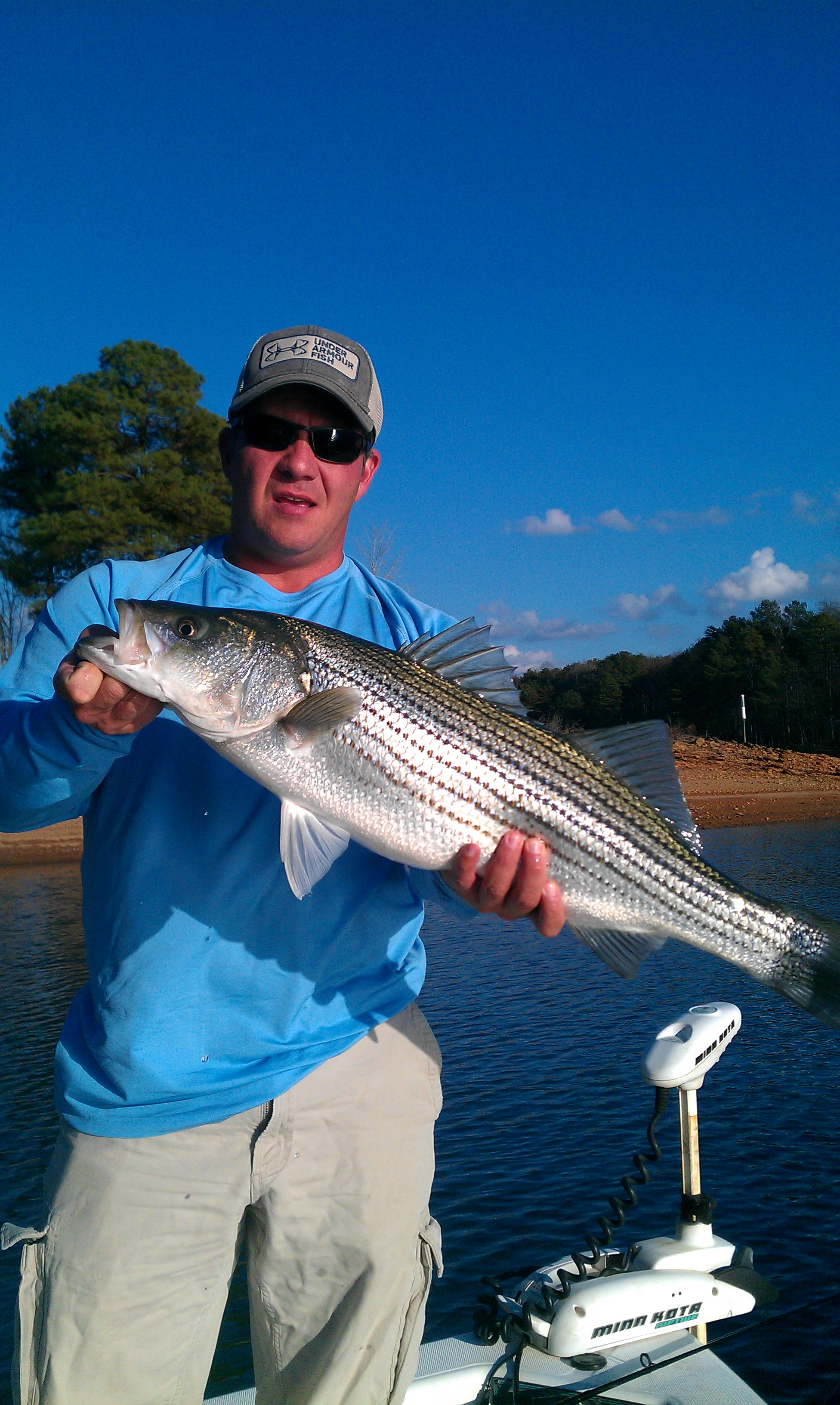 Lake lanier striper fishing dec 9 2012 striper steve 39 s for Lake lanier striper fishing